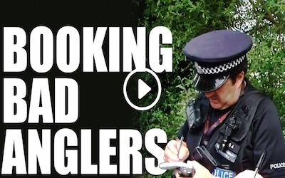 Police Rod Licence Patrol On British Rivers